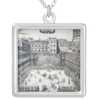 Jousting, 1565 silver plated necklace