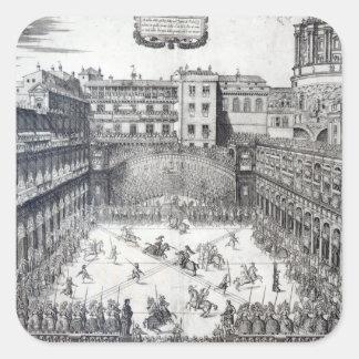 Jousting, 1565 square sticker