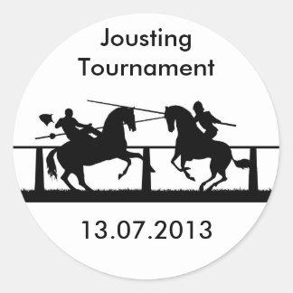Jousting Classic Round Sticker