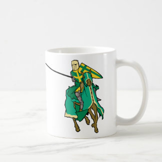 Jousting Green Knight Coffee Mug