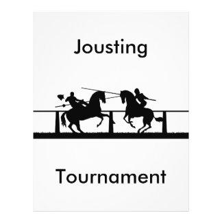 Jousting, Jousting, Tournament 21.5 Cm X 28 Cm Flyer