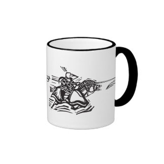 Jousting Knight Left Coffee Mugs