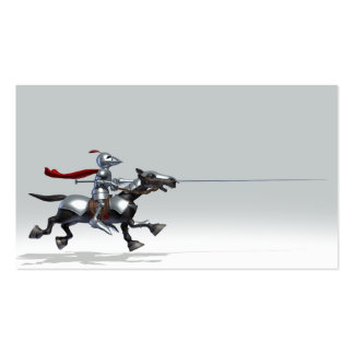 Jousting Knight Pack Of Standard Business Cards