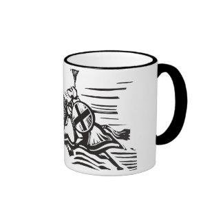 Jousting Knight Right Coffee Mugs