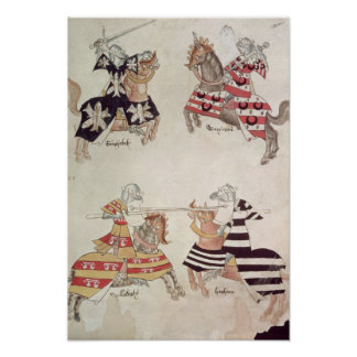 Jousting Knights, from Sir Thomas Holmes' Book Posters