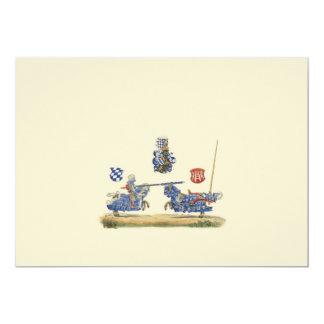 Jousting Knights - Medieval Theme 13 Cm X 18 Cm Invitation Card