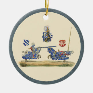 Jousting Knights - Medieval Theme Christmas Ornament