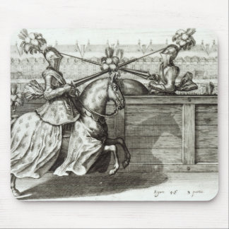 Jousting Tournament in a square Mouse Pad