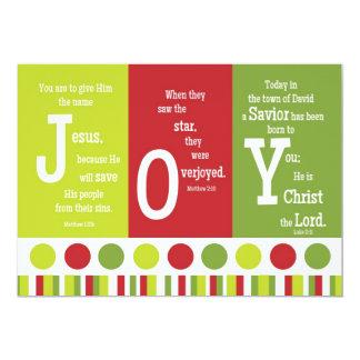 JOY 2-Sided Scripture Verse Christmas Card 13 Cm X 18 Cm Invitation Card
