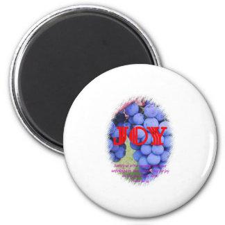 Joy 6 Cm Round Magnet