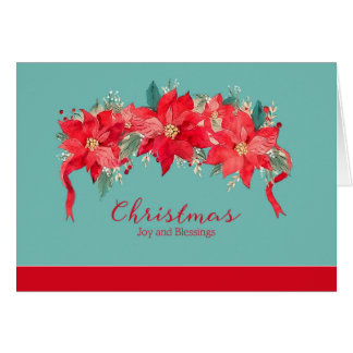 Joy and Blessings at Christmas, Religious Card