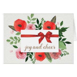 Joy and Cheer Holiday Greeting Card