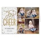 Joy and Cheer Holiday Photo Greeting Card