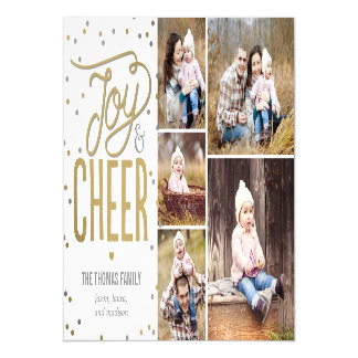 Joy and Cheer Holiday Photo Magnetic Card
