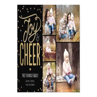 Joy and Cheer Photo Holiday Thin Magnetic Card