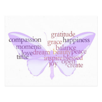 Joy and Gratitude Butterfly Postcard