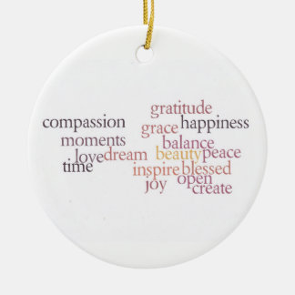Joy and Gratitude Ornament