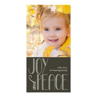 Joy and Peace Holiday Photo Card Photo Card