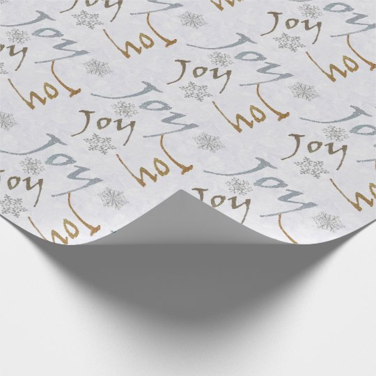 Joy and Snowflakes Holiday Wrapping Paper