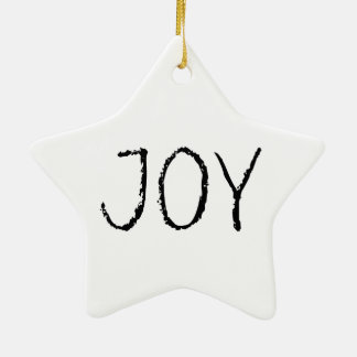 Joy Black & White Contemporary Tree Ornament