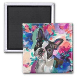 'Joy' Boston Terrier Dog Art magnet