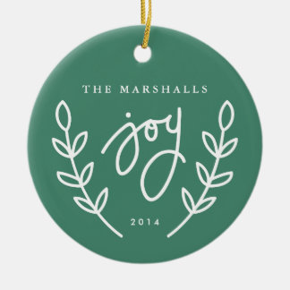 Joy branches circle ornament