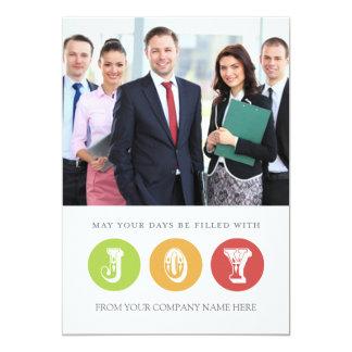 Joy Business Christmas Photo Card White 13 Cm X 18 Cm Invitation Card
