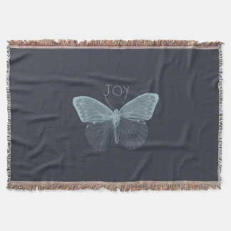 Joy Butterfly Throw Blanket