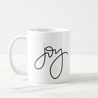 Joy Calligraphy Mug