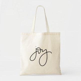 Joy Calligraphy Tote Bag