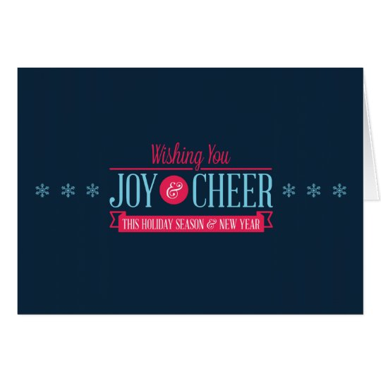 Joy & Cheer Holiday Card