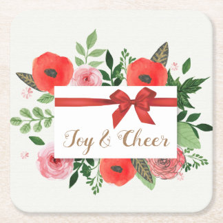 Joy & Cheer Paper Holiday Coasters