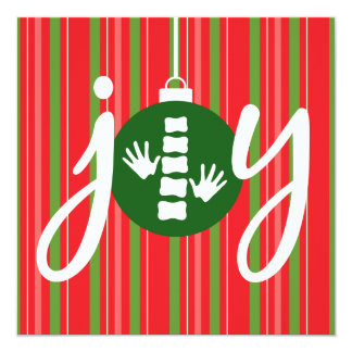 JOY Chiropractic Flat Holiday Christmas Cards 13 Cm X 13 Cm Square Invitation Card