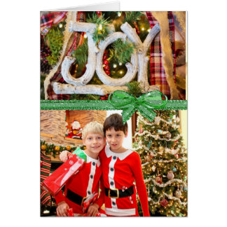 Joy Christmas Card with your own Photo