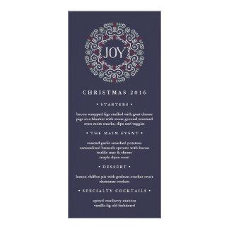Joy | Christmas Dinner Menu Custom Rack Card