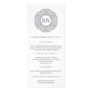Joy | Christmas Eve Dinner Menu Personalised Rack Card