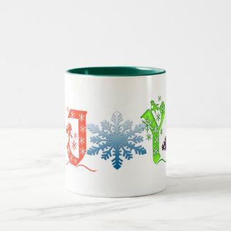 joy christmas mug design noel holiday cheer