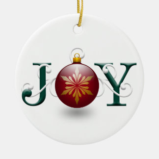 """Joy"" Christmas Ornament"