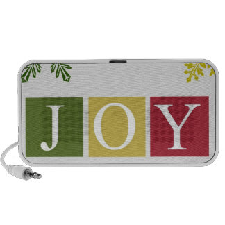 Joy Christmas Snowflakes Doodle Speaker