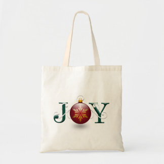 """Joy"" Christmas Tote Bag"