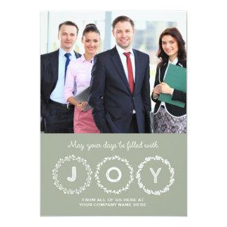 Joy Christmas Wreath Photo Cards Business 13 Cm X 18 Cm Invitation Card