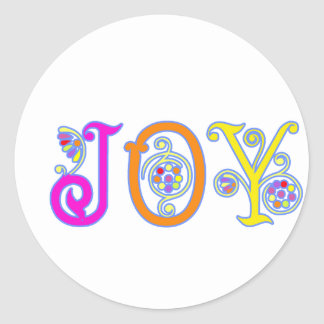 JOY! CLASSIC ROUND STICKER