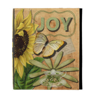 Joy Collage Vintage Eiffel Tower and Butterfly iPad Cases
