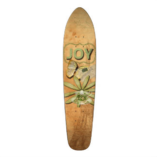 Joy Collage, Vintage Eiffel Tower and Butterfly Skateboard Deck