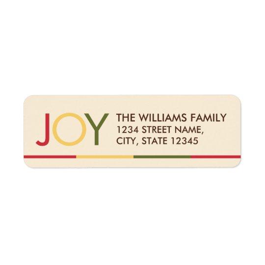 'JOY' Colourful Festive Christmas