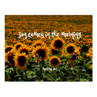 Joy comes in the Morning Verse Postcard
