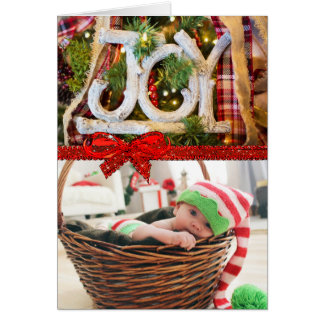 Joy country Christmas Card with your own Photo