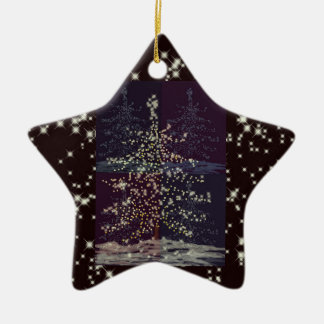 Joy Customizable Template Ceramic Star Decoration