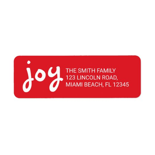 Joy | Cute and Fun Red Christmas Holidays