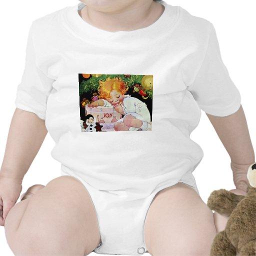 Joy, Edwardian Christmas Baby Bodysuits